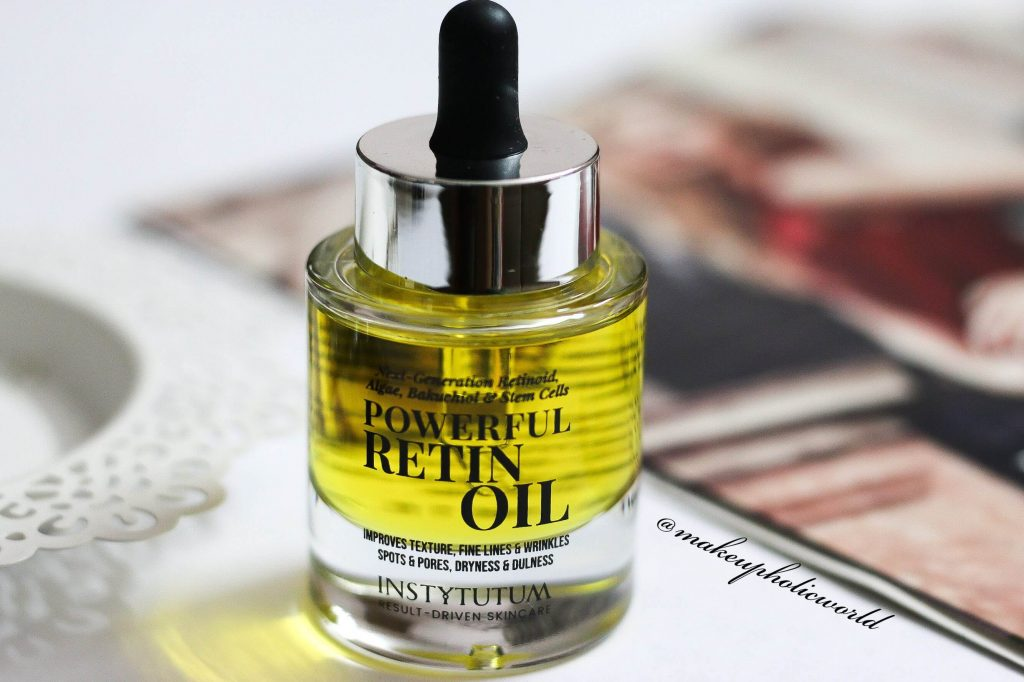 Instytutum Retin Oil Review, Powerful RetinOil review, instytutum Powerful RetinOil, Instytutum Retin Oil, buy instytutum products, Bakuchiol vs Retinol, which is good retinol to start, vegan retinol