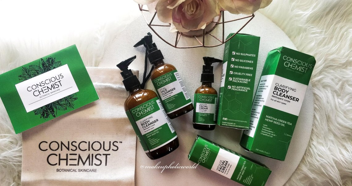 consciouschemist review, conscious chemist products, conscious chemist india, conscious chemist face cleanser review, conscious chemist facial cream review, conscious chemist clarifying body wash/cleanser review, conscious chemist green goodness kit review, matcha+hemp ritual face cleanser review, matcha+hemp body cleanser review, matcha+hemp facial cream review, matcha+hemp products