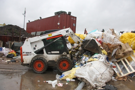 First Bobcat skid-steer loader for recycling and waste