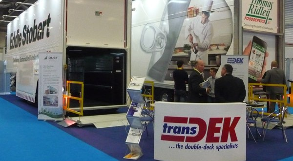 Transdek showcases award winning double deck Wedge trailer and V2G lift at CV Show