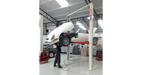Stertil Koni Lifts support restoration of classic Jaguars
