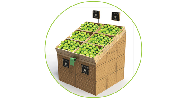 Polymer Logistics to present at Fruit Logistica 2016 the newest member of its Market Place products family: the Wood-Look Modular Display stand