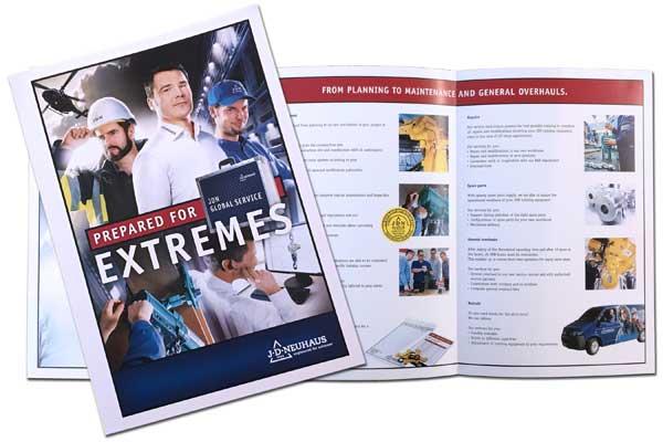 The new J D Neuhaus Global Service brochure.
