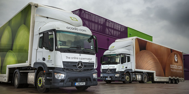 Ocado logs onto Mercedes-Benz safety options