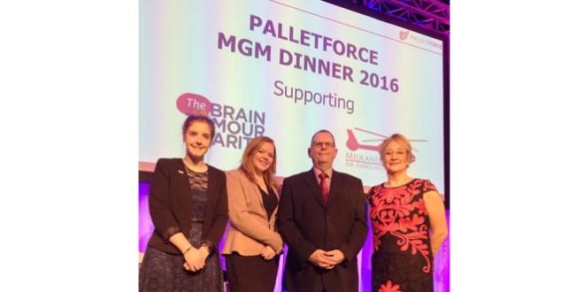 Charities benefit from Palletforce generosity