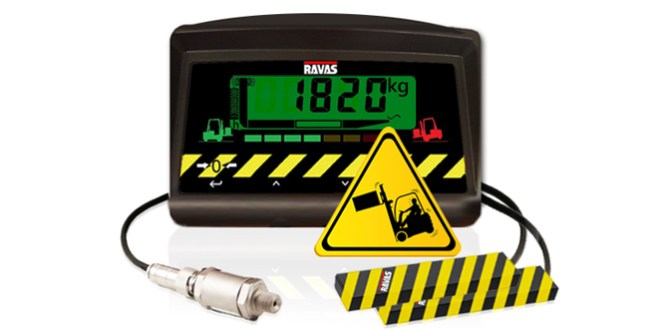RAVAS-SafeLoad: active load diagram alerts forklift driver in case of unsafe lifting