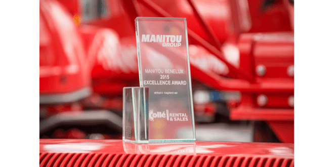 Collé Rental & Sales receives the 1.100th machine of Manitou and the 'Manitou Excellence Award'