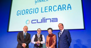 Royal recognition for Culina driver Giorgio Lercara as he becomes Microlise Driver of the Year