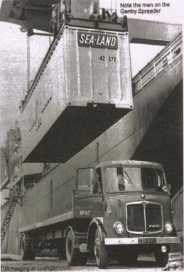 First container at Port of Grangemouth 7 May 1966