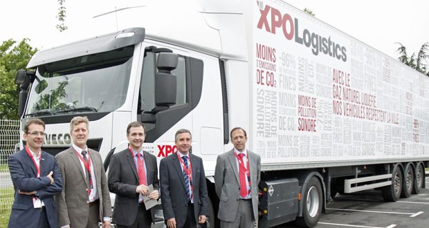 XPO Logistics unveils largest liquefied natural gas truck fleet in France at opening of new Bondoufle branch