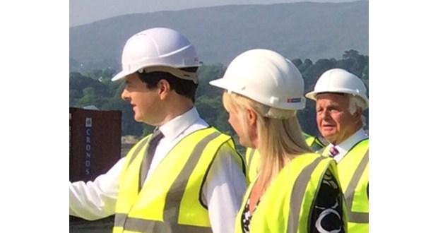 Cronus Logistics welcomes Chancellor George Osborne in Warrenpoint
