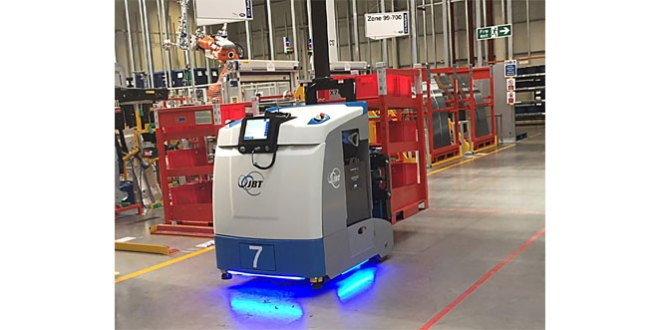 JBT AGVs matching automation with application