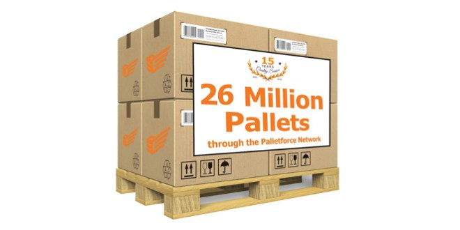 Palletforce reaches 26 million milestone