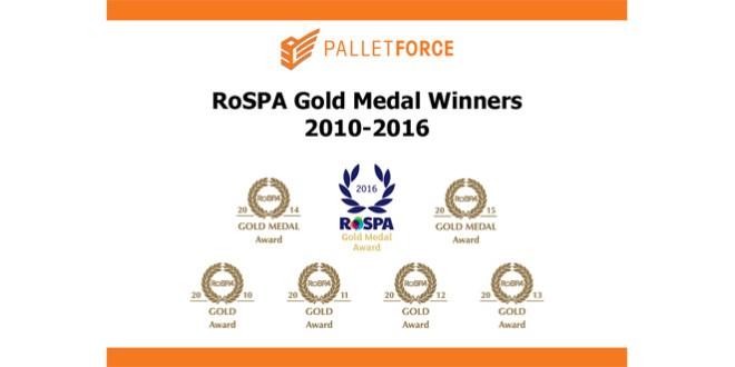 Seven RoSPA Golds for Palletforce