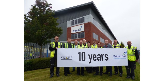 KNAPP system at British Gas clocks up 10 years