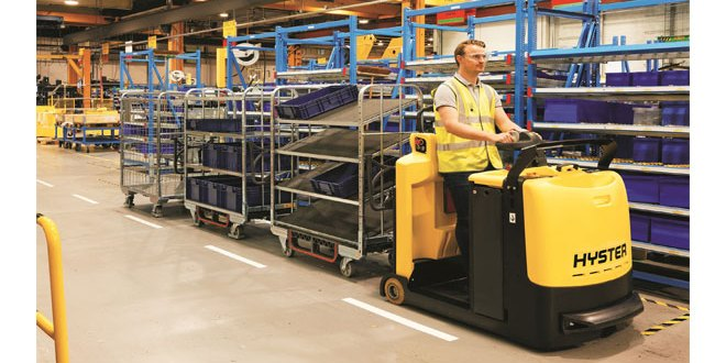 New Hyster® Tugger Train System supports manufacturing applications