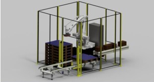 CKF develops low cost robot palletising cell