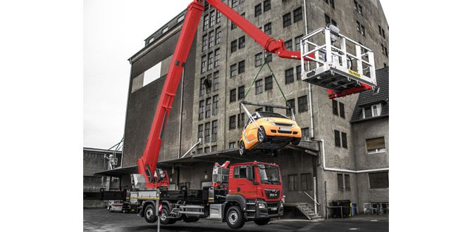 Crane mode for PALFINGER Jumbo class NX access platforms
