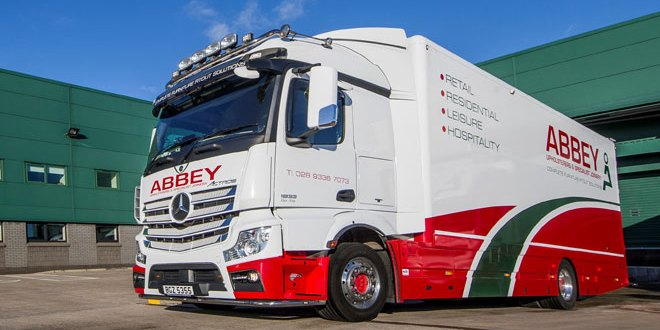 Eye-catching Mercedes-Benz Actros is a capital asset for Abbey Upholsterers & Specialist Joinery