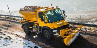Mercedes-Benz Unimog conquer ice and fire in Cumbria