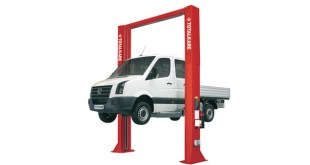 TotalKare launches new electro-hydraulic two-post lift at Commercial Vehicle Show 2017