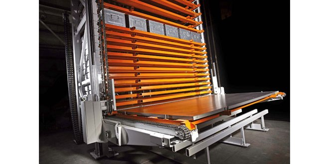 New KASTO storage tower for sheet metal is compact and economical