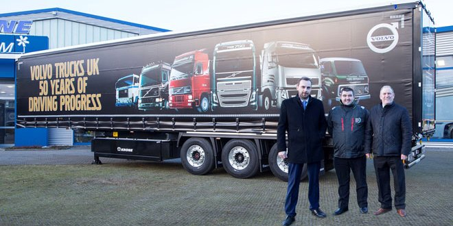 Volvo and Krone couple-up for anniversary truck trials