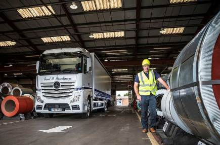 Paul Blackmore is delighted with his first Mercedes-Benz truck