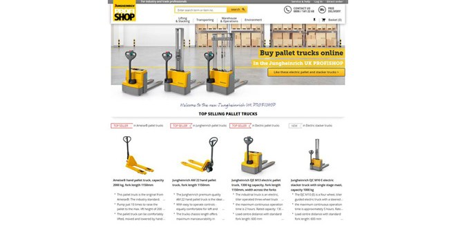 Jungheinrich PROFISHOP online store opens for business in the UK