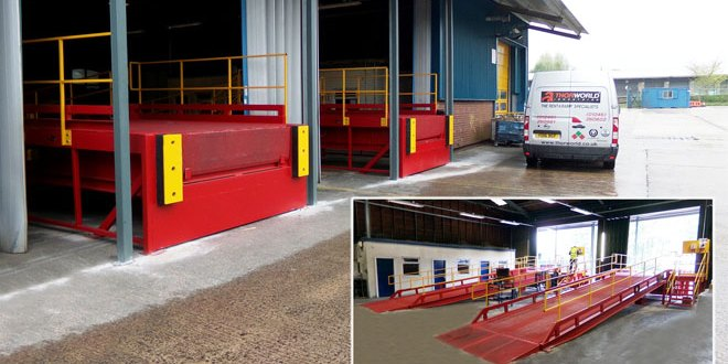 Thorworld loading bay solutions prove perfect fit for Cormar Carpets