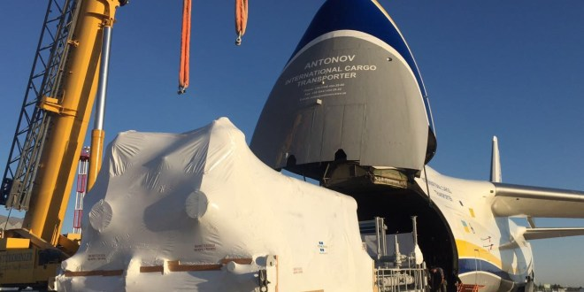ANTONOV AIRLINES TRANSPORTS GIANT COMPRESSORS TO TURKMENISTAN