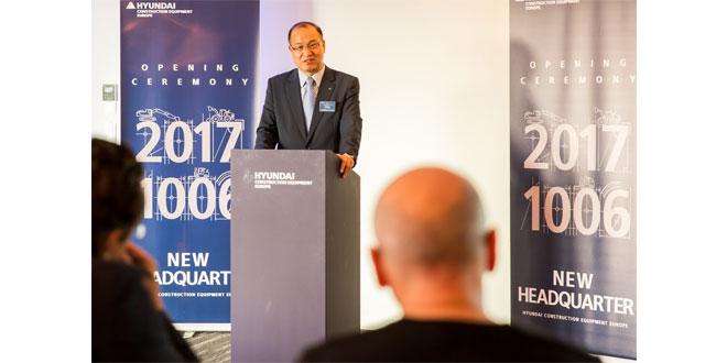 Hyundai Construction Equipment Europe officially open new European headquarters in Tessenderlo Belgium