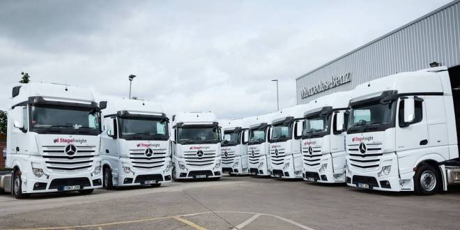Mercedes-Benz Actros plays a starring role for Stagefreight