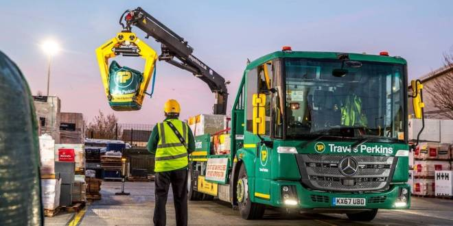 First Mercedes PowerShift 3 equipped Econics enter service with Travis Perkins