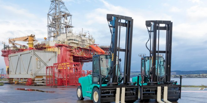 £183K investment in three new Yale forklift trucks at the Port of Cromarty Firth