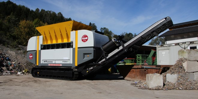UNTHA mobile shredder supports Austrian firm's passion for carbon neutral waste management