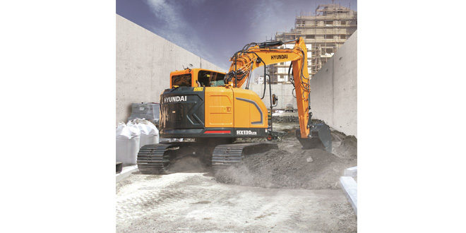 The new Hyundai HX130 LCR crawler excavator takes centre stage at Hillhead