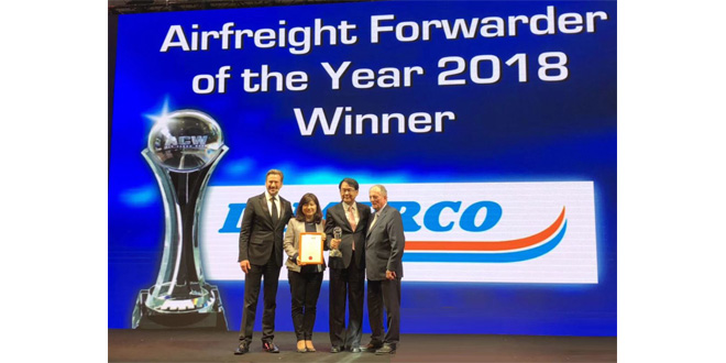 Dimerco crowned Airfreight Forwarder of the Year for third time