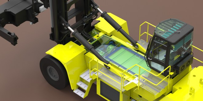 LATEST ON HYSTER ELECTRIC CONTAINER TRUCK