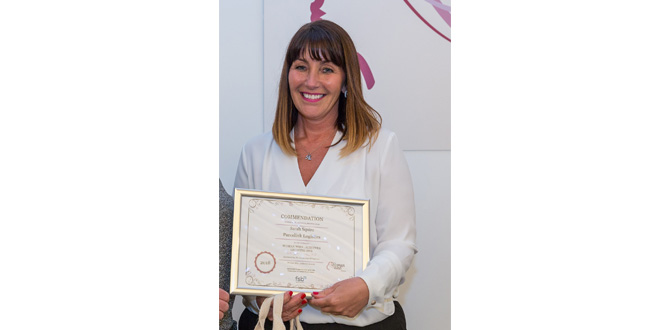Parcelink Logistics boss celebrates commendation at prestigious Woman Who Awards