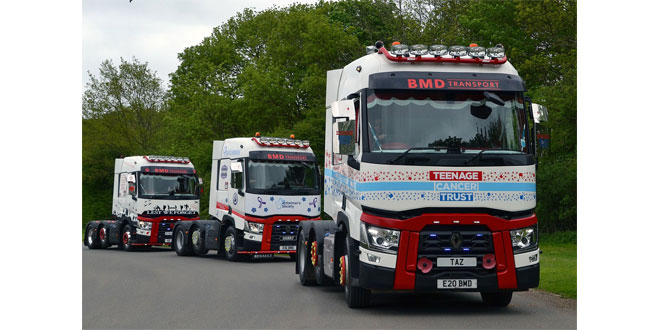 RENAULT TRUCK COMMERCIALS ROLLS WITH THE DUNSTABLE & LEIGHTON BUZZARD TRUCK CONVOY