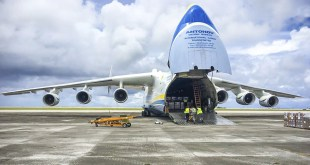 ANTONOV 225 FLIGHT BRINGS HUGE PAYLOAD OF EMERGENCY AID TO GUAM HURRICANE VICTIMS