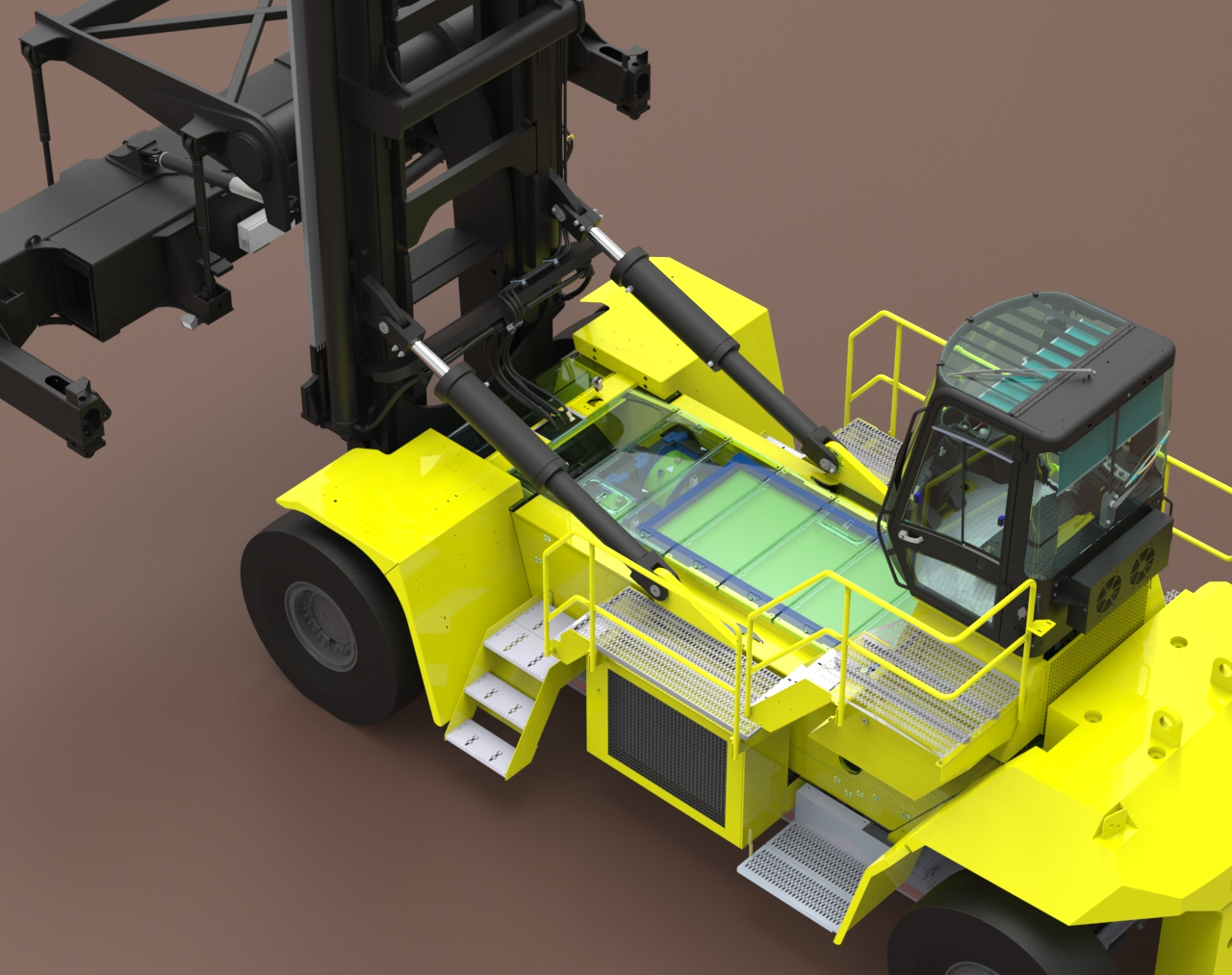 Fuel cell powered Hyster® container handler for Port of LA supported