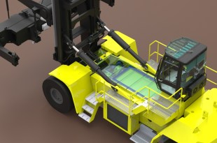 FUEL CELL POWERED HYSTER CONTAINER HANDLER FOR PORT OF LA