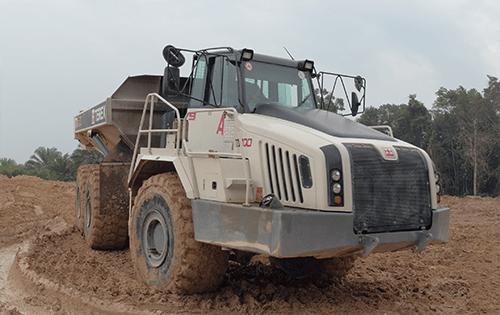 27 TA400s terex trucks mine tin in Indonesia