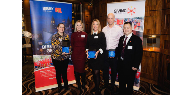 BIBBY DISTRIBUTION TRIO PRAISED FOR THEIR PART IN MARKING 10 MILLION GBP MILESTONE FOR CHARITY