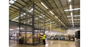 DFS LIFTS WAREHOUSING EFFICIENCY TO NEW LEVEL with Transdek Mezzanine lift