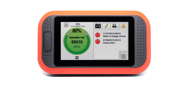 New EnerSys Truck iQ dashboard display gives materials handling vehicle drivers real