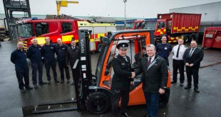 Toyota Material Handling to the rescue with donation of forklift truck