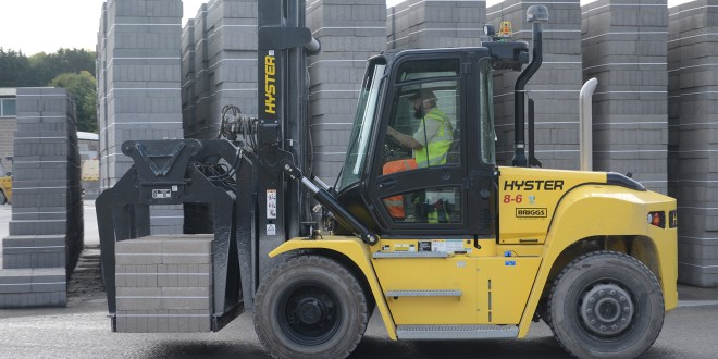 Building block manufacturer powers ahead with Hyster®